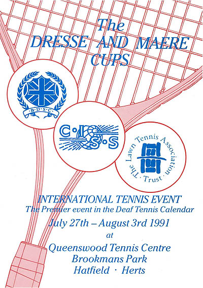 Photo: 1991 Dresse and Maere - Tennis Cup Poster