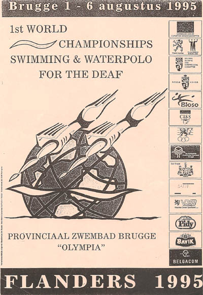 Photo: 1995 World Deaf Swimming Championships Poster
