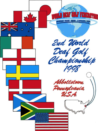 Photo: 1998 World Deaf Golf Championships Poster