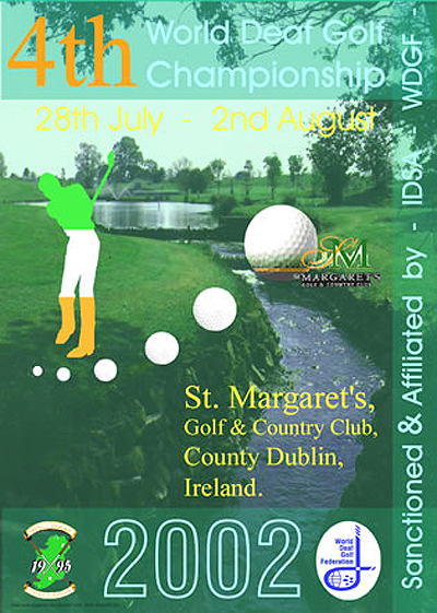 Photo: 2002 World Deaf Golf Championships Poster