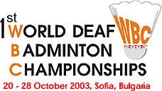 Photo: 2003 World Deaf Badminton Championships Embelm