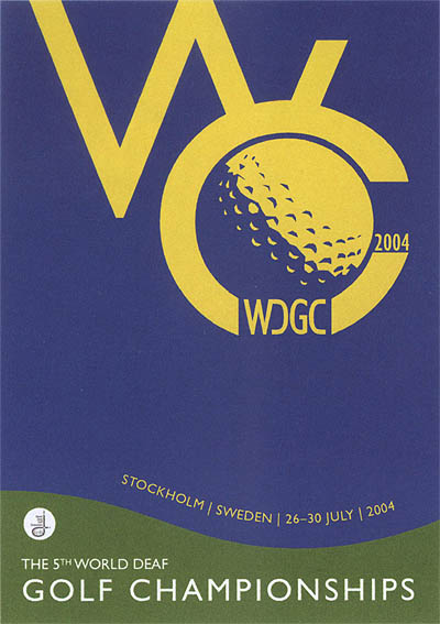 Photo: 2004 World Deaf Golf Championships Poster