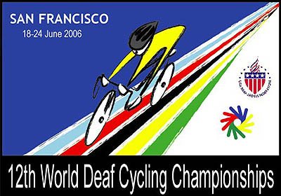 Photo: 2006 World Deaf Cycling Championships Poster