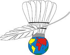 Photo: 2007 World Deaf Badminton Championships Emblem