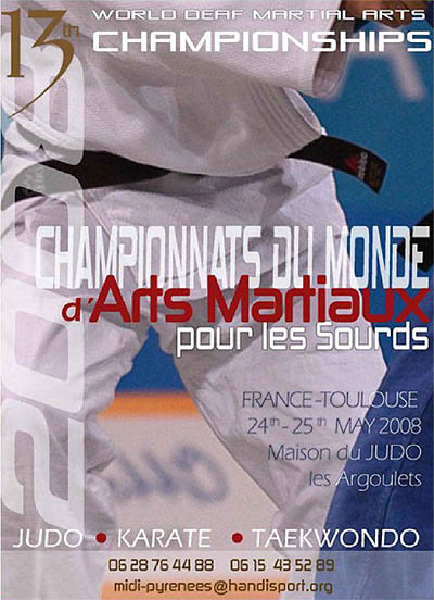 Photo: 2008 World Deaf Martial Arts Championships Poster