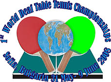 Photo: 2008 World Deaf Table Tennis Championships Emblem