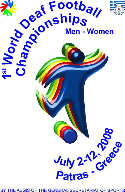 Photo: 2008 World Deaf Football Championships Poster