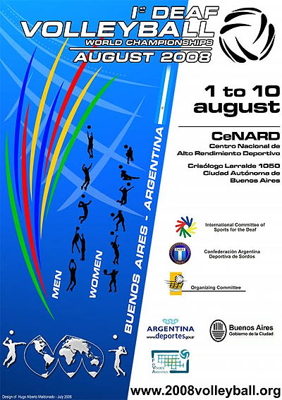 Photo: 2008 World Deaf Volleyball Championships Poster