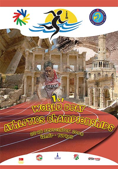 Photo: 2008 World Deaf Athletics Championships Poster