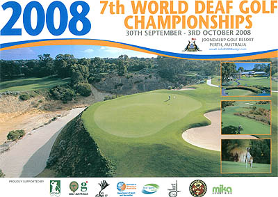 Photo: 2008 World Deaf Golf Championships Poster