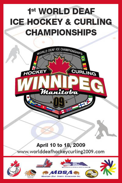 Photo: 2009 World Deaf Ice Championships Poster