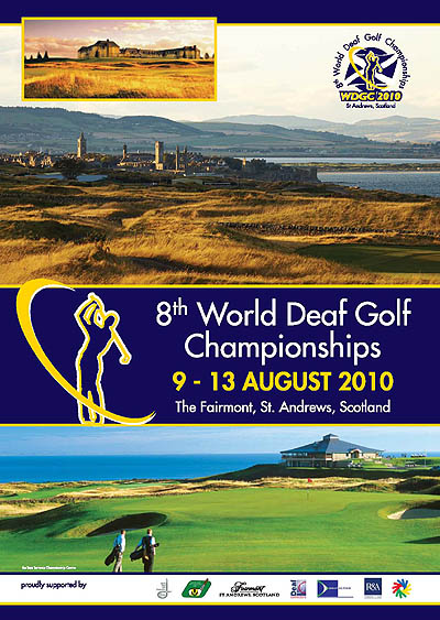 Photo: 2010 World Deaf Golf Championships Poster
