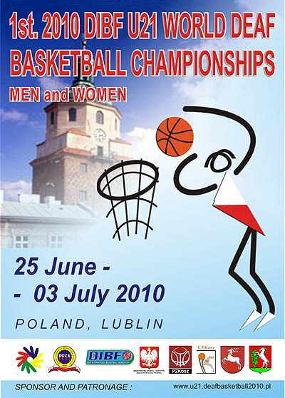 Photo: 2010 U21 World Deaf Basketball Championships Poster