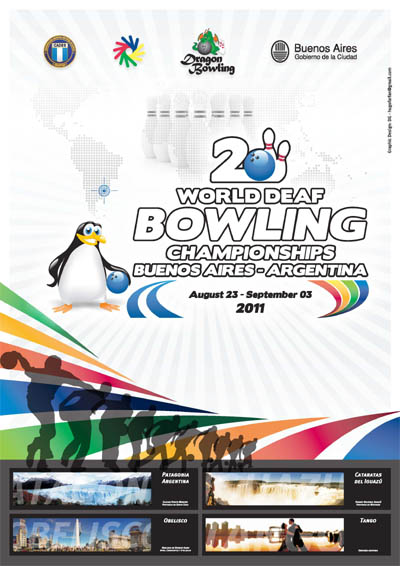 Photo: 2011 World Deaf Bowling Championships Poster