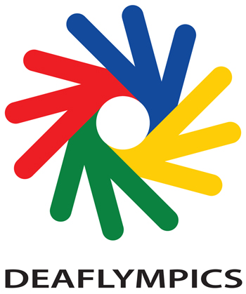 Deaflympics logo with logotype