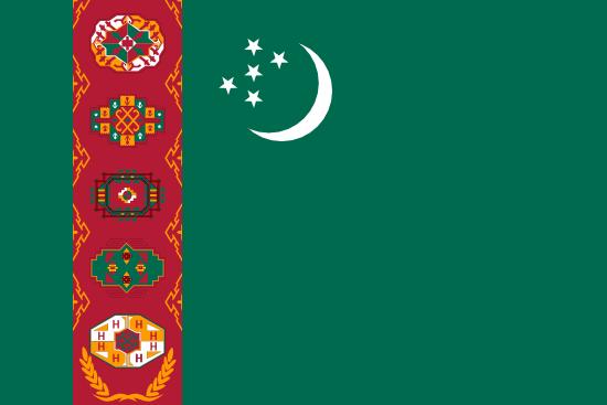 Flag: Turkmenistan